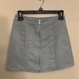 Forever 21 pale blue mini skirt